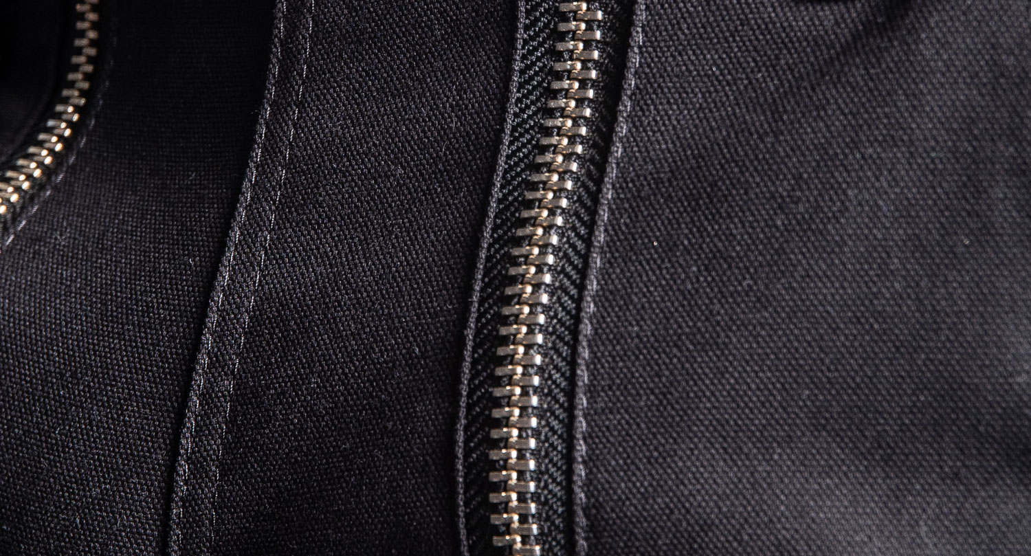 Canvas fabric, black color, workwear, work clothing, work pants, high tearing strength - dirt repellent